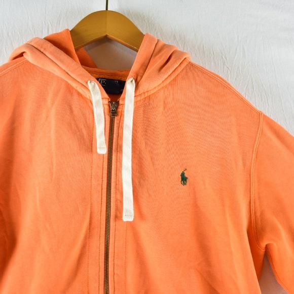 Xl Lauren Hoodie Polo Ralph Orange Size cFKlT1J3u